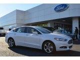 2013 White Platinum Metallic Tri-coat Ford Fusion SE 1.6 EcoBoost #74925201