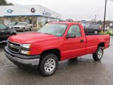 2007 Victory Red Chevrolet Silverado 1500 Classic Work Truck Regular Cab 4x4 #74925399