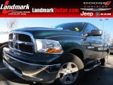 2011 Hunter Green Pearl Dodge Ram 1500 SLT Quad Cab #74925189