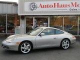 1999 Arctic Silver Metallic Porsche 911 Carrera 4 Coupe #74925388