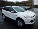 2013 White Platinum Metallic Tri-Coat Ford Escape SEL 2.0L EcoBoost 4WD #74925157