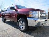 2013 Deep Ruby Metallic Chevrolet Silverado 1500 LT Crew Cab 4x4 #74973393