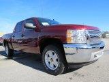 2013 Deep Ruby Metallic Chevrolet Silverado 1500 LT Crew Cab 4x4 #74973384