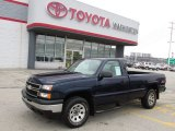 2006 Dark Blue Metallic Chevrolet Silverado 1500 Work Truck Regular Cab 4x4 #74973236