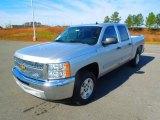 2013 Silver Ice Metallic Chevrolet Silverado 1500 LT Crew Cab #74973572