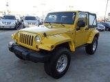 2011 Detonator Yellow Jeep Wrangler Sport 4x4 #74973431