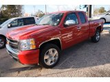 2011 Victory Red Chevrolet Silverado 1500 LT Extended Cab #74973539