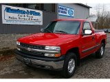 2001 Victory Red Chevrolet Silverado 1500 LS Extended Cab 4x4 #74973315