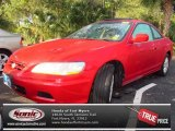 2002 San Marino Red Honda Accord EX V6 Coupe #75021051