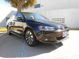 2013 Deep Black Pearl Metallic Volkswagen Jetta Hybrid SEL Premium #75021618