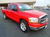 2006 Flame Red Dodge Ram 1500 SLT Quad Cab #75021476