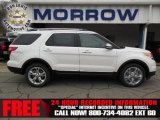 2013 White Platinum Tri-Coat Ford Explorer Limited 4WD #75021213
