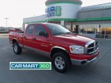 2007 Flame Red Dodge Ram 1500 SLT Quad Cab 4x4 #75021450