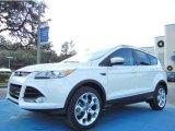 2013 White Platinum Metallic Tri-Coat Ford Escape Titanium 2.0L EcoBoost #75021194