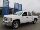 2013 Summit White Chevrolet Silverado 1500 LT Crew Cab 4x4 #75073860