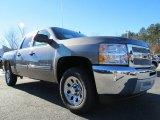 2013 Graystone Metallic Chevrolet Silverado 1500 LS Crew Cab #75074084