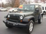 2010 Natural Green Pearl Jeep Wrangler Sport 4x4 #75074426