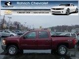 2013 Deep Ruby Metallic Chevrolet Silverado 1500 LT Crew Cab 4x4 #75074408