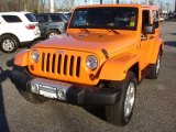 2012 Crush Orange Jeep Wrangler Sahara 4x4 #75073709