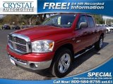 2008 Inferno Red Crystal Pearl Dodge Ram 1500 ST Quad Cab 4x4 #75074264