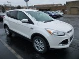 2013 White Platinum Metallic Tri-Coat Ford Escape SEL 2.0L EcoBoost 4WD #75073896