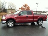 2006 Dark Toreador Red Metallic Ford F150 XLT SuperCab 4x4 #75074117