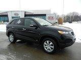2011 Ebony Black Kia Sorento LX AWD #75123415