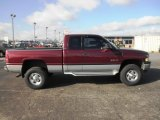 2001 Dark Garnet Red Pearl Dodge Ram 2500 SLT Quad Cab 4x4 #75123460