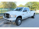2007 Bright White Dodge Ram 3500 SLT Quad Cab 4x4 Dually #75123303