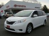 2012 Super White Toyota Sienna LE #75145265
