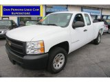 2008 Summit White Chevrolet Silverado 1500 Work Truck Extended Cab 4x4 #75161344