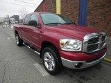 2007 Inferno Red Crystal Pearl Dodge Ram 1500 Big Horn Edition Quad Cab 4x4 #75169097