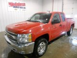 2013 Victory Red Chevrolet Silverado 1500 LT Extended Cab 4x4 #75194461