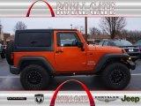 2011 Mango Tango Pearl Jeep Wrangler Sport 4x4 #75194067