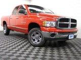 2005 Flame Red Dodge Ram 1500 SLT Quad Cab 4x4 #75194297