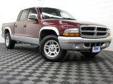 2003 Dark Garnet Red Pearl Dodge Dakota SLT Quad Cab #75194295