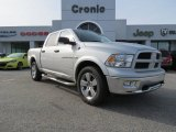 2012 Bright Silver Metallic Dodge Ram 1500 Outdoorsman Crew Cab 4x4 #75194169