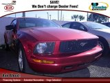 2007 Redfire Metallic Ford Mustang V6 Deluxe Convertible #75194393