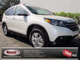 2013 White Diamond Pearl Honda CR-V EX-L #75226377