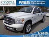 2007 Bright White Dodge Ram 1500 SLT Quad Cab #75226917