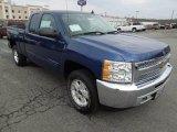 2013 Blue Topaz Metallic Chevrolet Silverado 1500 LT Extended Cab 4x4 #75226909