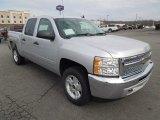 2013 Silver Ice Metallic Chevrolet Silverado 1500 LT Crew Cab #75226908
