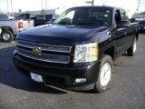 2013 Black Chevrolet Silverado 1500 LTZ Extended Cab 4x4 #75226319