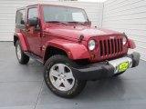 2012 Deep Cherry Red Crystal Pearl Jeep Wrangler Sahara 4x4 #75226724