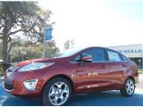 2013 Ruby Red Ford Fiesta Titanium Sedan #75226530