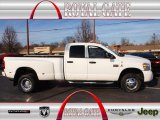 2007 Bright White Dodge Ram 3500 Sport Quad Cab 4x4 Dually #75226418