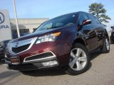 2011 Dark Cherry Pearl Acura MDX Technology #75226413