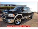 2010 Brilliant Black Crystal Pearl Dodge Ram 1500 Laramie Crew Cab 4x4 #75288406