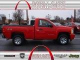 2011 Victory Red Chevrolet Silverado 1500 Regular Cab 4x4 #75288275