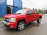 2008 Victory Red Chevrolet Silverado 1500 LT Extended Cab 4x4 #75288319